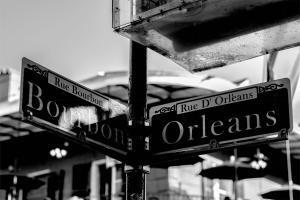 Bourbon Street Signage New Orleans