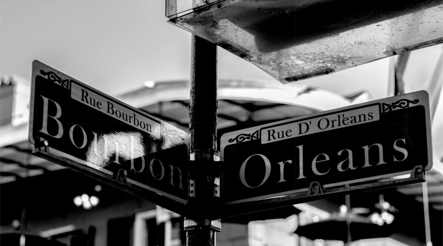 Bourbon Street Signage New Orleans
