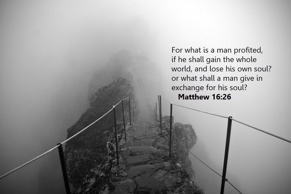 Bible Verse Matthew 16:26