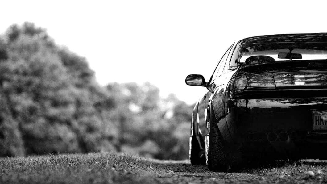 Black Nissan Silvia 240SX S14