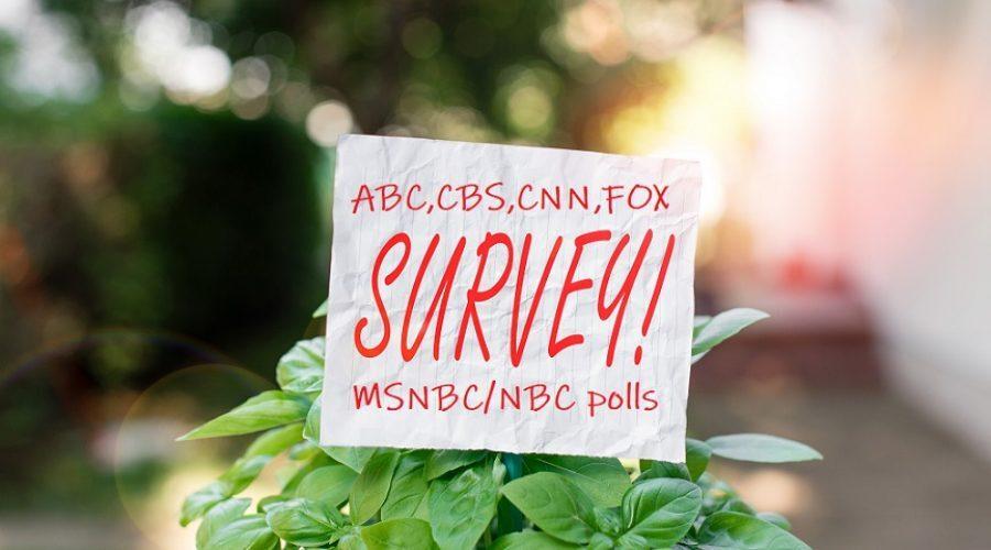 Political Poll Data Via Mainstream News Media
