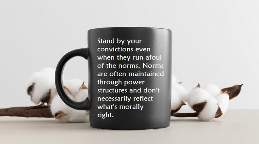 When Money Makes Us Afraid To Stand By Our Convictions